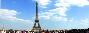 Eiffelturm Blick von der Esplanade de Trocadéro