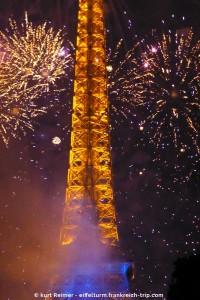 Eiffelturm Feuerwerk 14 Juli 2014