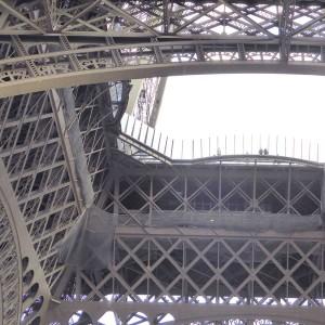 Eiffelturm Unteransicht auf die 1. Etage