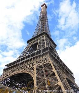 Eiffelturm Ansicht von unten