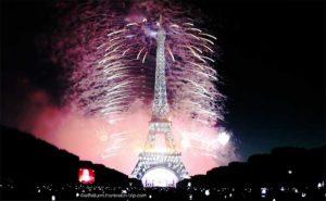 Nationalfeiertag 14. Juli Feuerwerk am Eiffelturm